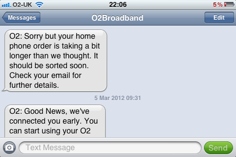 Confusing messages from O2 broadband